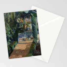 Joaquin Sorolla y Bastida Court of the Dances, Alcázar, Sevilla, 1910, Oil on canvas Stationery Cards