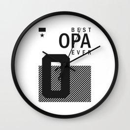 Best Opa Ever Wall Clock