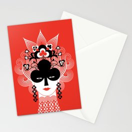 The Queen of clubs Stationery Cards