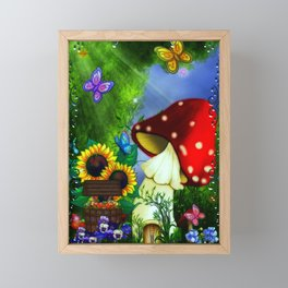 MuShroom Gully Fantasy Art Framed Mini Art Print