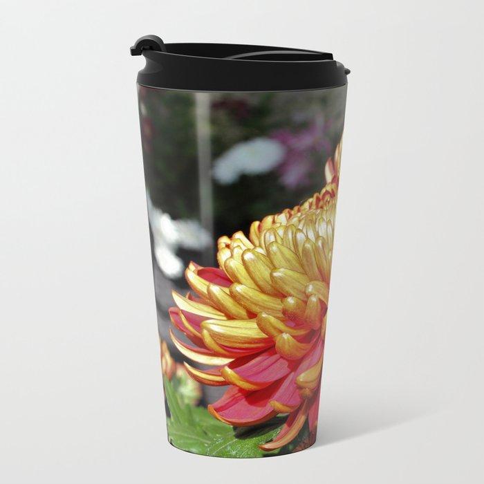Mother's Day Flowers Metal Travel Mug