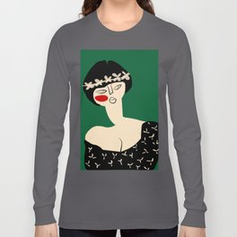 Girl with flower crown Long Sleeve T-shirt