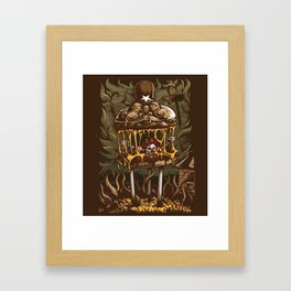 Hamburger Hell Framed Art Print