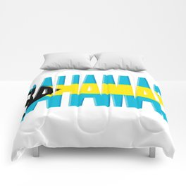 Bahama Font with Bahamian Flag Comforters