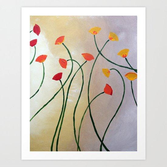 Tall Poppy Art Print