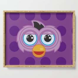 Purple Furby Serving Tray