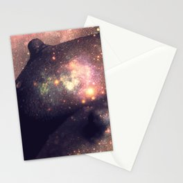 Galaxy Breasts Mauve Teal Stationery Cards