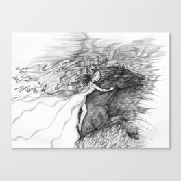 Bringing In The Dark Clouds Canvas Print