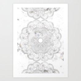 soft colored mandala pattern Art Print