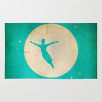 peter pan Area & Throw Rugs featuring Peter Pan in London by Chien-Yu Peng