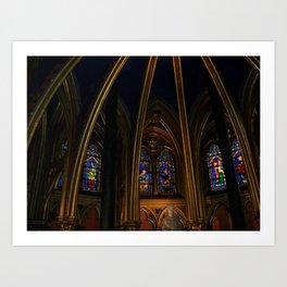 Sainte Chapelle, Paris Art Print