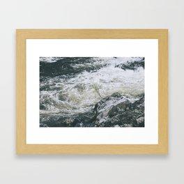 Rushing river Framed Art Print