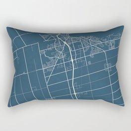 Barrie Blueprint Street Map, Barrie Colour Map Prints Rectangular Pillow