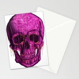 Violet Skull Stationery Cards