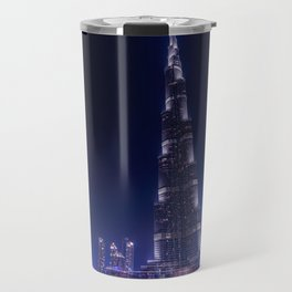 Burj Khalifa Skyscraper In Dubai Travel Mug