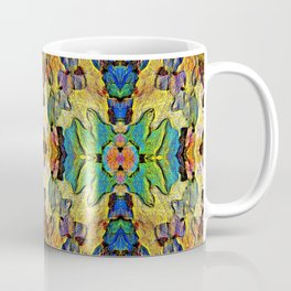 Colorful  Nature Wood Pattern Psychedelic Art Coffee Mug