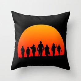 Western Sunset Throw Pillow