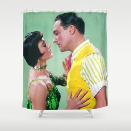 Gene Kelly & Cyd Charisse - Green - Singin' in the Rain Shower Curtain