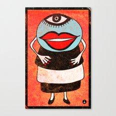 Miss One Eye Canvas Print