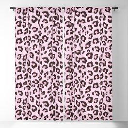 Leopard Print - Pink Chocolate Blackout Curtain
