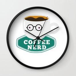Coffee Nerd Barista Cafe Worker Roaster Lover Wall Clock
