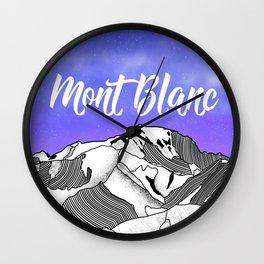 Mont Blac Wall Clock
