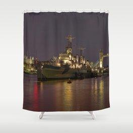 HMS Belfast Shower Curtain