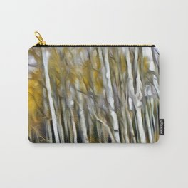 Yellow Aspens 1 by Leslie Harlow Carry-All Pouch