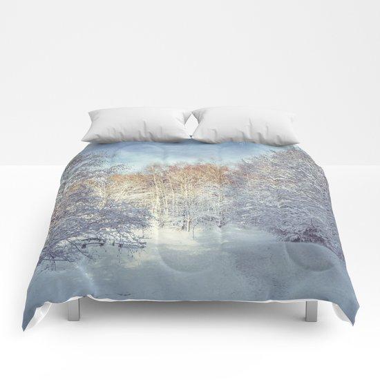 White Blanket Comforters