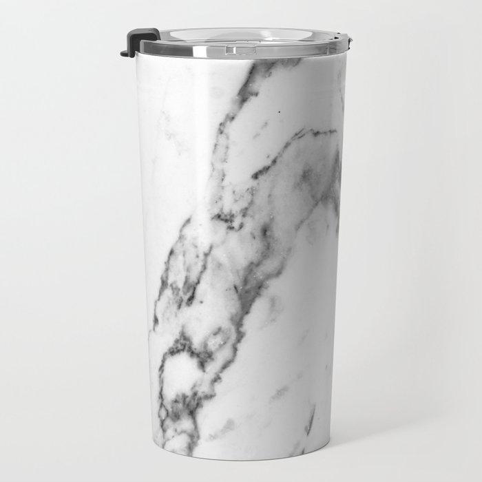 White Marble I Travel Mug