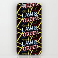 law iPhone & iPod Skins featuring LAW & ORDER by Josh LaFayette