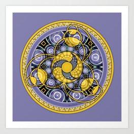 Crop Circle Mandala 5 Art Print