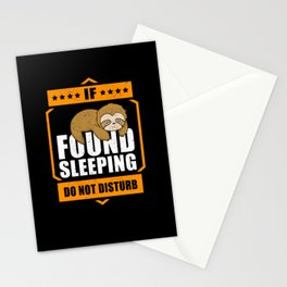 Sloth Lazy Late Riser Fatigue Laziness Stationery Cards