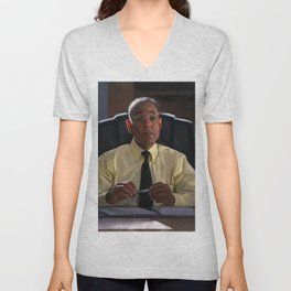 Gus Fring In The Office At Los Pollos Hermanos - Better Call Saul Unisex V-Neck