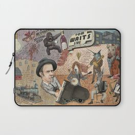 Tom Waits' Melodramatic Nocturnal Scene Laptop Sleeve