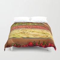 vegetables Duvet Covers featuring Vegetables by Toni-Ann Langella