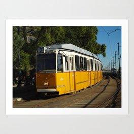 Budapest Tram Art Print