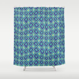 Diamonds are Forever-Oceania Colors Shower Curtain