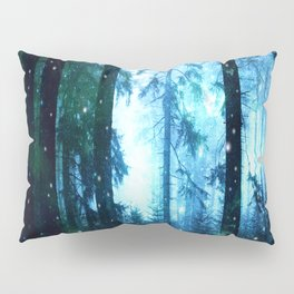Fireflies Night Forest Pillow Sham