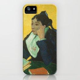 Vincent van Gogh - L'Arlésienne: Madame Joseph-Michel Ginoux (Marie Julien, 1848–1911) iPhone Case
