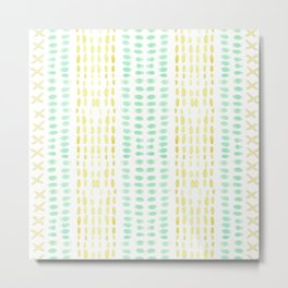 Striped dots and dashes Metal Print