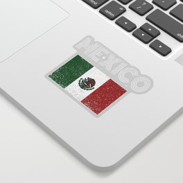 Mexican National Flag Vintage Mexico Country Gift Sticker