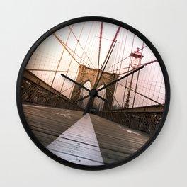 Brooklyn Bridge, New York City Wall Clock