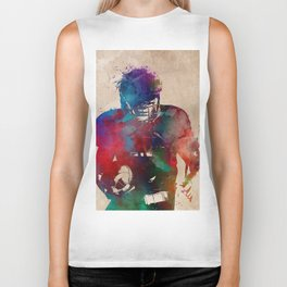American football player #football #sport Biker Tank