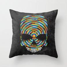 Hypnotic Skull Throw Pillow