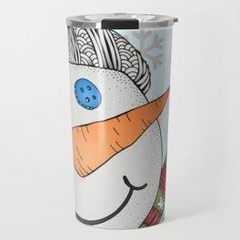 Snowy Snowman Travel Mug