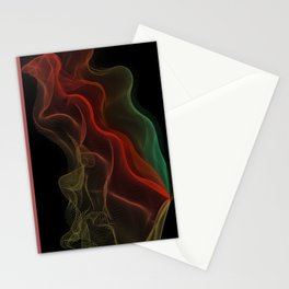 Almost Fluorescent Aurora String Theory #3  Stationery Cards