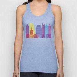Atlanta V2 skyline pop Unisex Tank Top