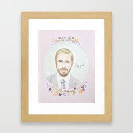 Ryan Gosling, Hey Girl Framed Art Print