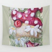 mushroom Wall Tapestries featuring mushroom by Macknifique